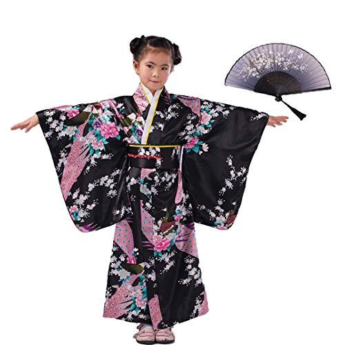 LOLANTA Vestido Kimonos asiáticos para niñas Vestido Superior para niños Vestido japonés...