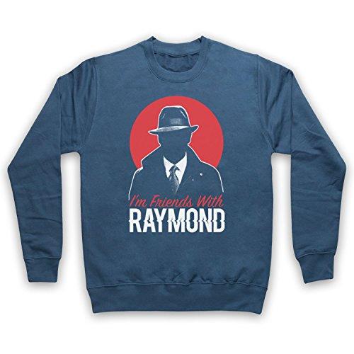 The Guns Of Brixton Blacklist I'm Friends with Raymond Sweat-Shirt des Adultes, Airforce Bleu, 2XL