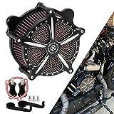 Bid4ze Black Motorcycle Air Cleaner Filter Intake Kits Fit For Harley Dyna Super Glide Street Bob Low Rider Fat Bob Wide Glide 1993-2016