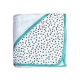 Asciugamano Neonato Baby da bagno con cappuccio Triangolino 100% Cotone super assorbente 75x85 cm - Frecce Blu