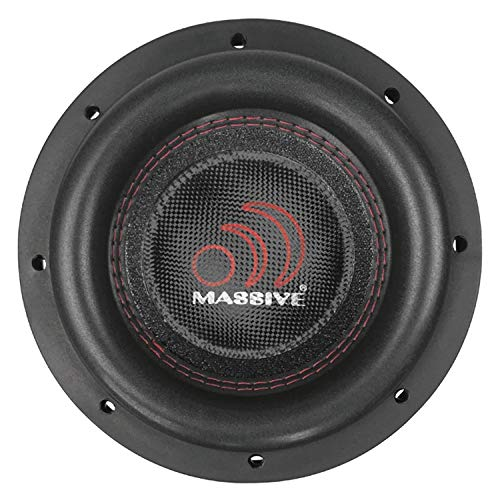 Massive Audio SUMMO84 – 8 Inch Car Audio 600 Watt SUMMO Series Competition Subwoofer, Dual 4 Ohm, 2 Inch Voice Coil. Sold Individually.