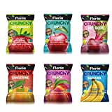 Natural Healthy Snacks, Dried Fruit Crisps, Variety Pack, No Sugar Added, Non GMO, Gluten Free, Vegan, 0.63 Ounce Bags (Pack of 10) - Floria Crunchy