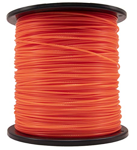 "KAKO 095 Inch Trimmer Line,0.095"" Weed Wacker Eater String, Commercial Grade Round Nylon String Trimmer Line Replacement for String Trimmer Weed Trimmer .095""-1280ft-5lb-Spool( Orange)"