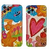 ZWQASP Cajas Encantadoras de Pintura al óleo de Graffiti Cubierta Trasera Completa Accesorios para teléfono, para iPhone 12 12Pro MAX 11 11PRO XR X XS MAX 7 8 Plus SE 2020