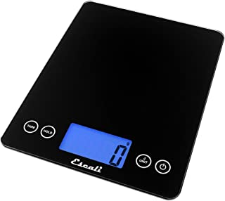 Escali ArtiXL 2210IB Precision Extra-Large Glass Surface Kitchen Scale, Measures Liquid and Dry Ingredients, Tare Function, Digital LCD Display, 22lb Capacity, Black