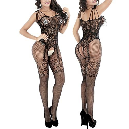 Pc-Glq Sexy Lingerie Donna, Lingerie Sexy Donna Hot per Sesso Aperto, Donne Sexy Racy della cavità del Merletto della Biancheria, Taglia Unica, Perizoma escluso
