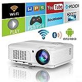 4400 lumen Wifi Smart Projecteurs vidéo Bluetooth sans fil avec HDMI USB Haut-parleurs WXGA HD LED...