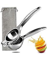 Citroenpers & citruspers, handpers juicer met opbergzak, handmatige limoenpers, anti-bijtend en vaatwasmachinebestendig, zwaar ontwerp, stevig en duurzaam