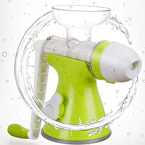 OUYA Manual Hand Crank Juicer, 27 * 23.5cm Multifunctional Household Juicer Ice Cream Machine without Bowl, Juice residue separation