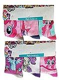 MLP My Little Pony Pferde bunte (pink, lila, weiß, türkis) Motiv-Socken mit Twilight Sparkle, Rainbow Dash, Rarity & Pinkie Pie, für Mädchen (31/34)