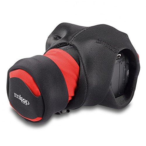 Miggö MWGW-SLR-BR-70 - Grip y Wrap SLR, Color Rojo y Negro