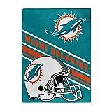 NFL Miami Dolphins 'Slant' Raschel Throw Blanket, 60' x 80'