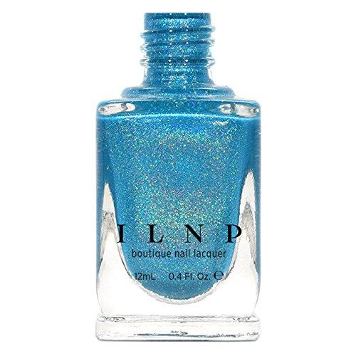 ILNP Float On - Vivid Aquamarine Blue Holographic Nail Polish