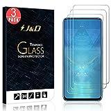 JundD Kompatibel für Huawei Honor 9X Panzerglas Schutzfolie, 3er Packung [Vorgespanntes Glas] [Nicht Ganze Deckung] Glas Bildschirmschutz für Huawei Honor 9X Panzerglas Bildschirmschutzfolie