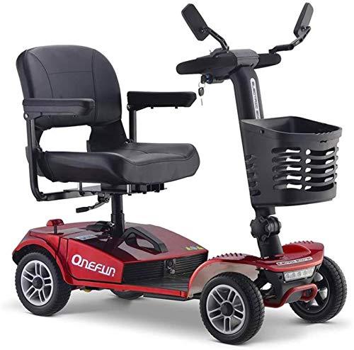 Elektro Rollstuhl Klapprollstuhl Elektrisch, Ältere Elektro-Scooter, Folding vierrädrigen Motorroller, 20AH Lithium-Batterie, komfortabel und sicher, es ist das Lieblings Scooter von älteren Menschen
