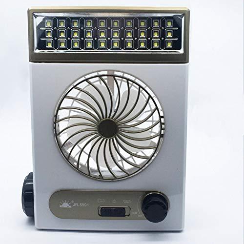 Mini-oplader voor zonne-energie Kleine ventilator Studentenfan met LED-lichtventilator Multifunctionele kleine ventilator