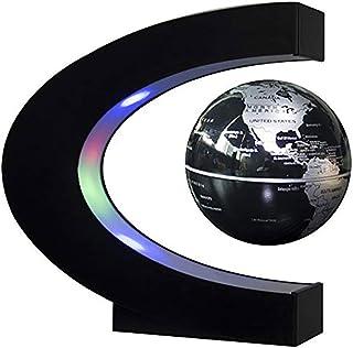 ZNN Flytande glob LED-lampor – global 360° dekorativa lampor C-formade antigravitation upphängning världskarta barngåvor s...