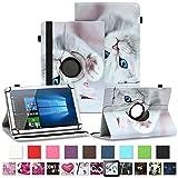 NAUC Asus ZenPad 10 Z300M Z301ML Z301MFL Tablet Schutzhülle Hülle Tasche Standfunktion 360° Drehbar aus Kunst-Leder Cover Universal Hülle, Farben:Motiv 10