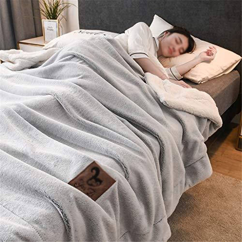 Adults Quilts -CDingQ Super Soft Bett Decke, Beidseitiger Textur Warme Decke Licht-Sofa-Abdeckung Decke sechs Arten Farbe Geeignet for Hotel Dorm Room Halte Quilt NO Pillowcases Only Quilts