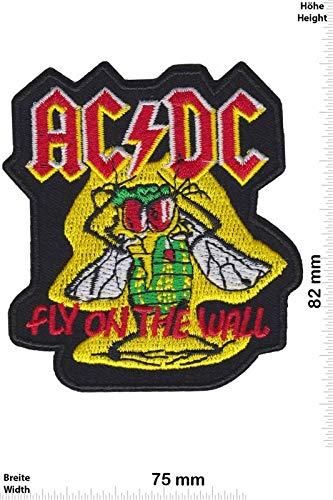 Ac Dc ACDC vliegen op de muur patch badge Applique geborduurd ijzer op