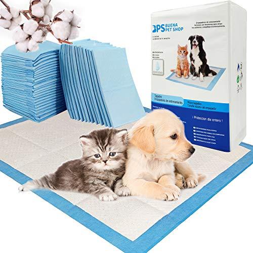 BPS BPS-2168 x 01 Lot de 30 tapis de dressage hygiénique ultra absorbant pour chiens et chats 60 x 60 cm