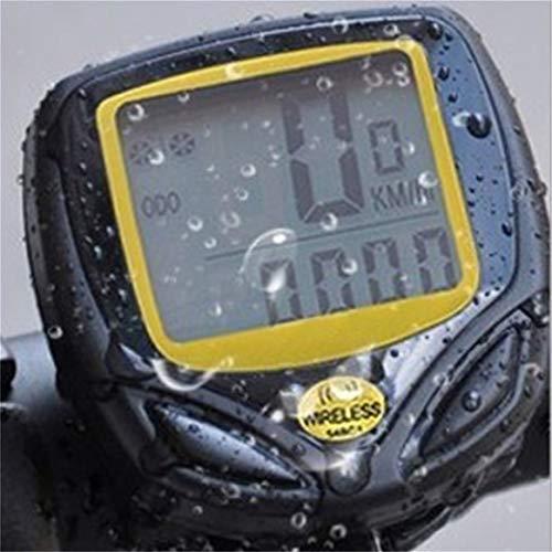 Fahrradcomputer Delicacydex Wasserdichtes drahtloses Plastikfahrrad, Das Sport-Fahrrad-Computer-Geschwindigkeitsmesser-Kilometerzähler mit LCD-Anzeige radfährt - 2