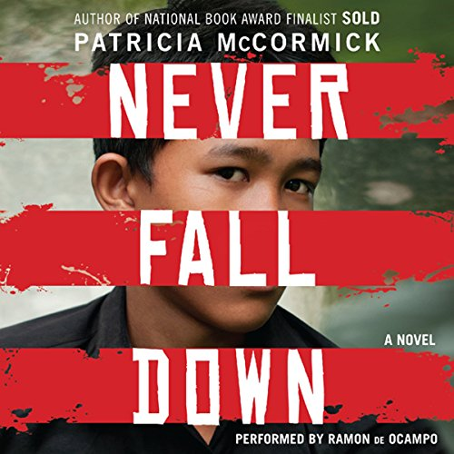 Never Fall Down audiobook cover art