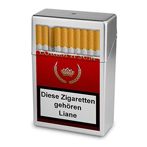 Zigarettenbox mit Namen Liane - Personalisierte Hülle mit Design Zigarettenbox - Zigarettenetui, Zigarettenschachtel, Kunststoffbox