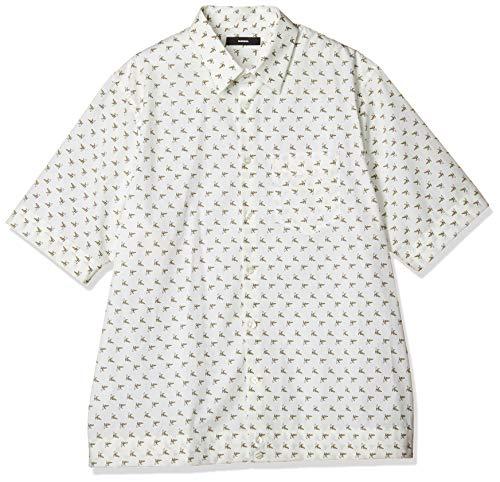 Diesel Camisa Manga Corta S-Atwood-B Platanos Modelo 00SGR2 0HAXH Color Blanco