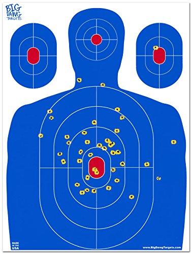 Big Dawg Targets - 18 X 24 Inch Blue Silhouette Reactive Splatter Target - 50 Pack