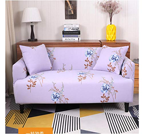 Allenger Funda Elástica de Sofá,Knitted Stretch Printing Sofa Cover, Four Seasons Universal Cushion Cover, Furniture Protection Cover-Color 15_90-140cm