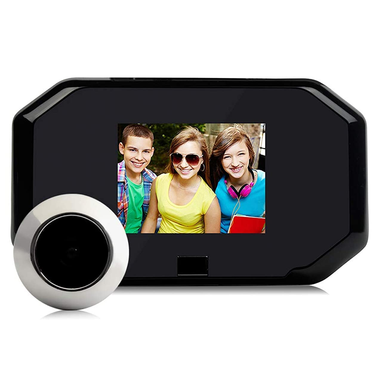 TQ Video-Visual doorbell Monitoring System 1080p HD Electronic cat Eye doorbell and 3.0 inch Indoor Display, Video Surveillance, no Cabling Required