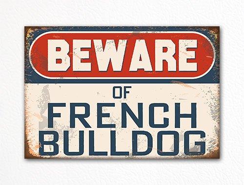 Beware of French Bulldog Dog Breed Refrigerator Magnet