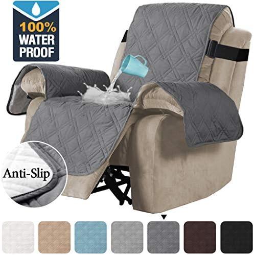 Best H.VERSAILTEX 100% Waterproof Quilted Recliner Chair Cover Recliner Cover Recliner Slipcover for Livi