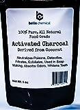 Poudre de charbon de bois bio activée par noix de coco - catégorie comestible, cacher - blanchiment de dents, exfoliant facial,...