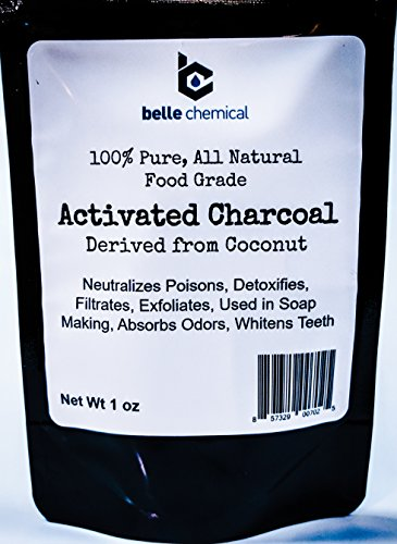Polvo de carbón activado de coco orgánico Kosher – grado alimenticio...