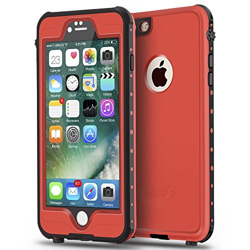 ImpactStrong iPhone 6 Plus 5.5 inch Waterproof Case [Fingerprint ID Compatible] Slim Full Body Protection for Apple iPhone 6 Plus & 6s Plus (5.5 Inc h) - Red