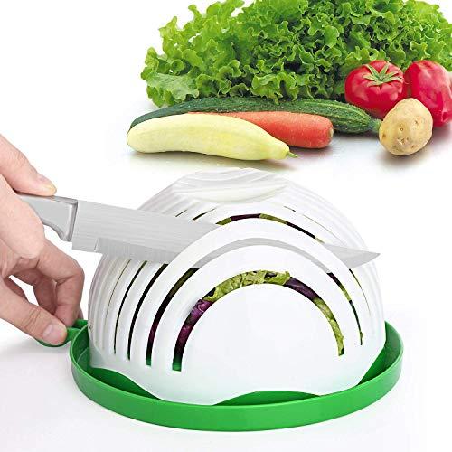 ENYAA Salatmacher Schüssel 60 Sek&en Salat Maker Gemüseschneider Schüssel Obstsalat Maker Salatschüssel Zerkleinerer Spinner für Zuhause Küche – FDA genehmigt hohe Version Schüssel