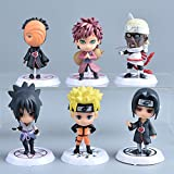 VNNY 6 unids/Set Anime Naruto Cartoon Q versión Naruto Kakashi Sakura Sasuke Figura de acción-Estilo...