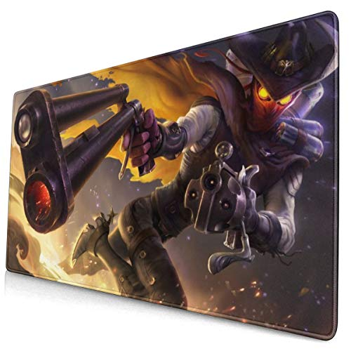 """Large Mouse Pad for League of Legends Jhin with Stitched Edges Gaming Mouse Mat Non-Slip Rubber Base Mousepad for Laptop,Computer,PC,Keyboard,11.8""""x23.6"""""""