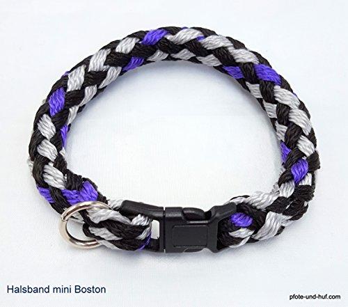 elropet Hundehalsband Mini für die Kleinen rundgeflochten Tauwerk Boston (28cm)