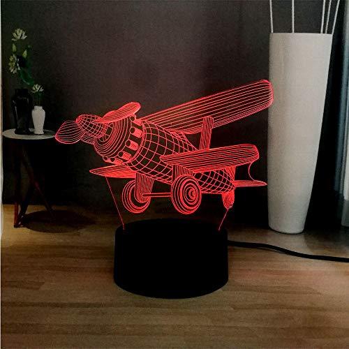 Lampe d'illusion 3D Led Night Light Novel 7 Changement de couleur Modèle d'hélicoptère créatif Vous Table Friend Enfants Kid Cadeau de vacances Jouet