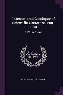 International Catalogue of Scientific Literature, 1901-1914: 1906 div.Q pt.01