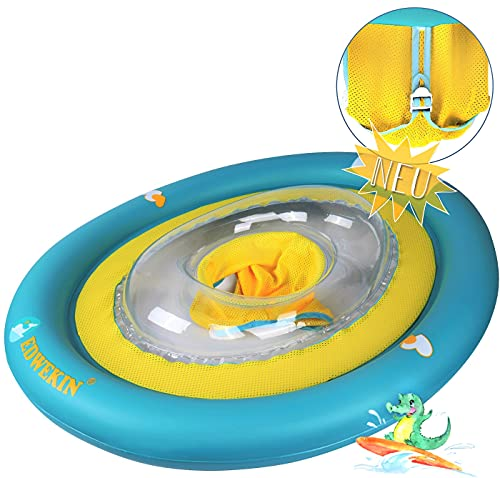 EDWEKIN® Baby Schwimmring, Mitwachsende Schwimmhilfe, Schwimmsitz, Kleinkinder ab 6 Monate bis 3 Jahre (Krokodil)
