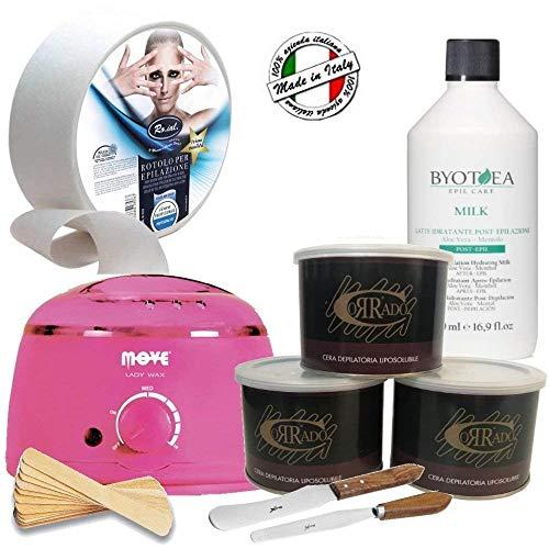 Kit Depilazione Professionale*3 Cera Vaso*LatteCrema...