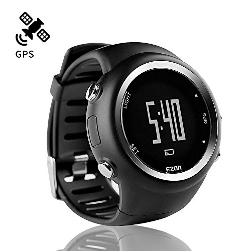 ランニングウォッチGPS腕時計デジタルウォッチ防水軽量Bluetooth搭載歩数計EZONT031B01