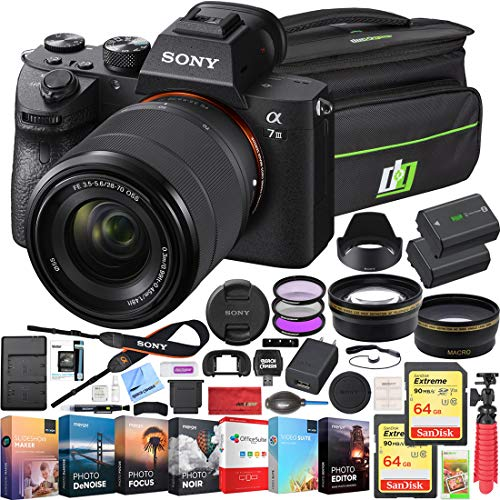 Cheapest Prices! Sony a7III Full Frame Mirrorless Camera with FE 28-70mm F3.5-5.6 OSS Lens Kit ILCE-...