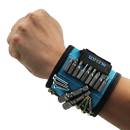 Magnetic Wristband, BLENDX Men Gifts Tool with Strong Magnets for Holding Screws, Nails, Drill Bits Cool Tools for Father's Day Gift for Him, Men, Husband, Dad, Guys, DIY-er