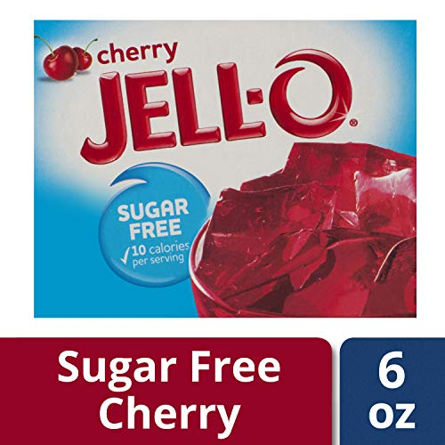 Jell-O Cherry Sugar-Free Gelatin Mix (0.6 oz Box)