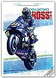 Valentino Rossi 2022 - A3 Format Posterkalender: Original RedStar - Carousel Kalender [Mehrsprachig] [Kalender]